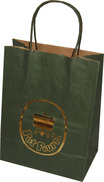 kraft paper bags with hot stamping logo