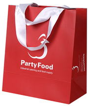 laminated paper bags with satin ribbon handle